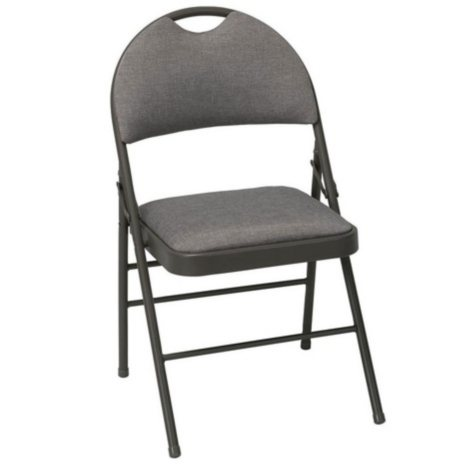 Cosco Superior Comfort Commercial Fabric Folding Chair, Light Brown - 4 Pack