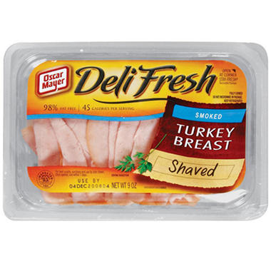 Oscar Mayer® Shaved Smoked Turkey Breast 9 oz. - 3 ct.