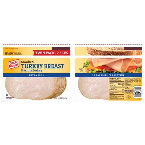 Oscar Mayer Smoked Turkey Breast (20 oz. pack, 2 ct.)