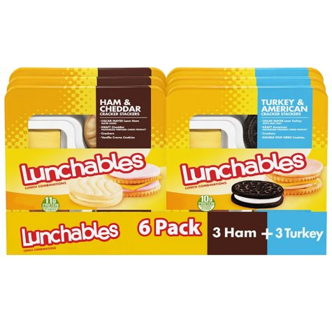 Oscar Mayer Lunchables Turkey and Ham Variety Pack (20.7 oz. tray, 6 ct.)