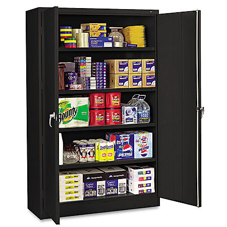 "Tennsco 78"" High Jumbo Combination Steel Storage Cabinet, Select Color"