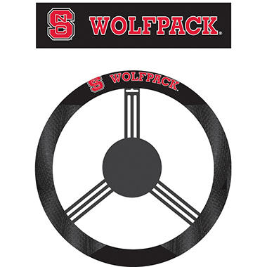 NCAA North Carolina State Wolfpack Steering Wheel Cover