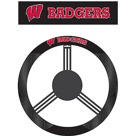 NCAA Wisconsin Badgers Steering Wheel Cover