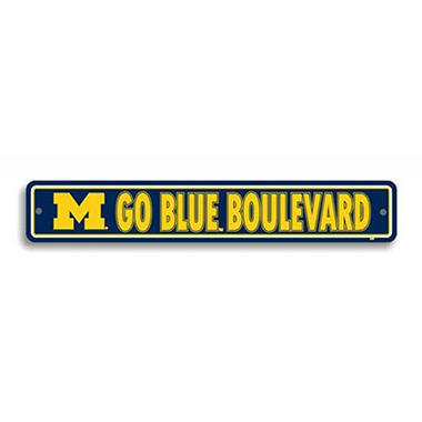 NCAA Michigan Wolverines Street Sign