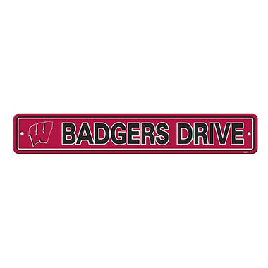 NCAA Wisconsin Badgers Street Sign
