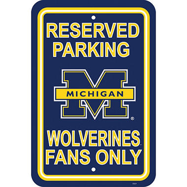 NCAA Michigan Wolverines Parking Sign