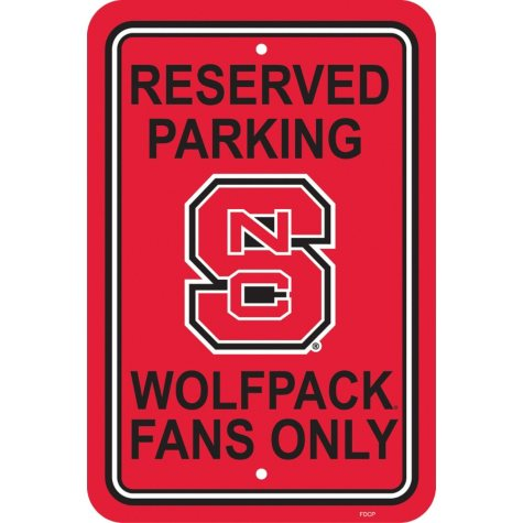 NCAA North Carolina State Wolfpack Parking Sign