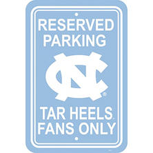 NCAA North Carolina Tarheels Parking Sign