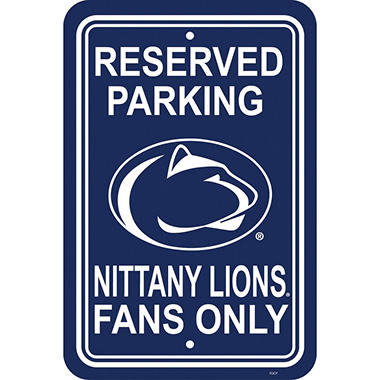 NCAA PARKING SIGN PENN STATE LIONS