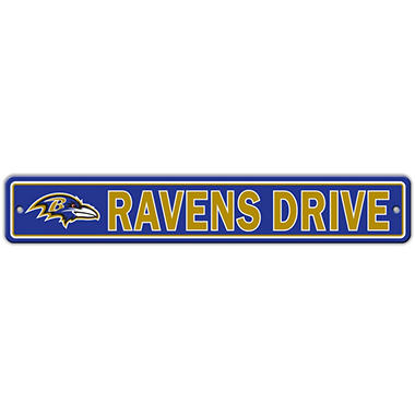 NFL Baltimore Ravens Street Sign