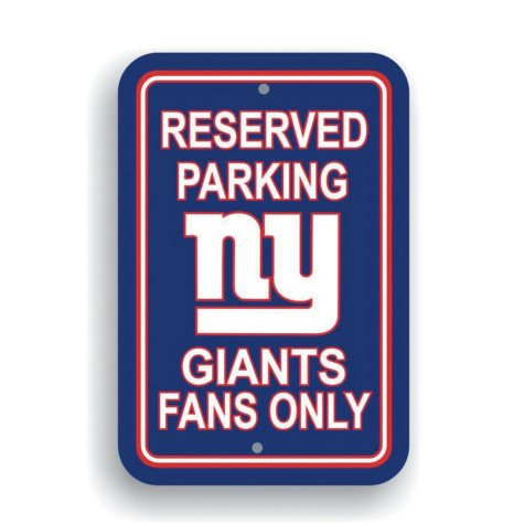 NFL New York Giants Parking Sign