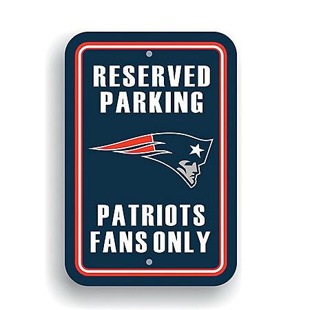 NFL New England Patriots Parking Sign