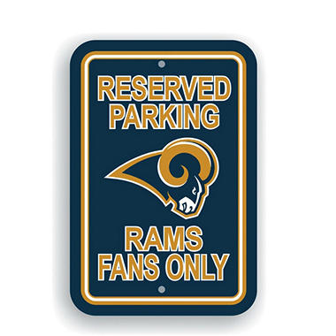 NFL Los Angeles Rams Parking Sign
