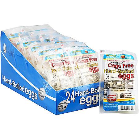 Almark Cage-Free Hard Boiled Eggs (2 per pk., 12 pk.)