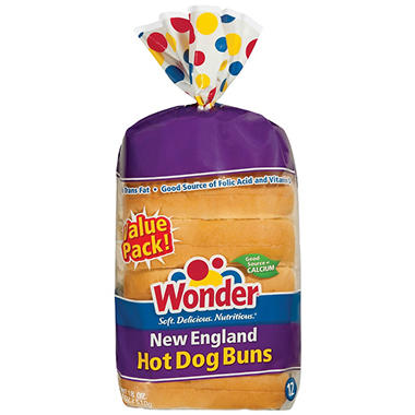 Wonder® New England Hot Dog Buns   2/12 Ct.