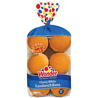 Wonder® Classic White Hamburger Buns - 12 ct.