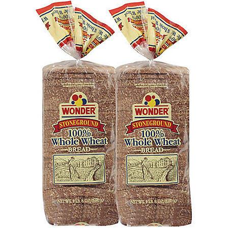 Wonder® Stoneground 100% Whole Wheat - 24 oz. - 2 pk.