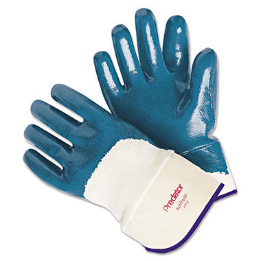 Memphis Predator Nitrile Gloves, Blue, Large (Pack of 12)