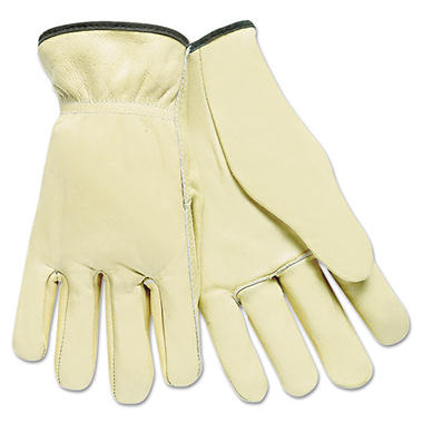 Memphis Full-Grain Cow Leather Driver Gloves, Tan, Large (Pack of 12)