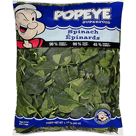 Popeye Superfood Spinach (2.5 lbs.)