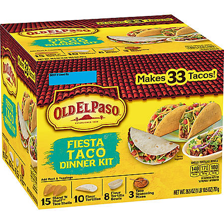 Old El Paso Fiesta Taco Dinner Kit (33 ct.)
