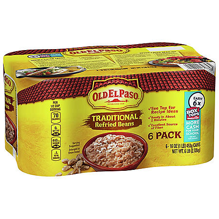 Old El Paso Traditional Refried Beans (16 oz., 6 pk.)