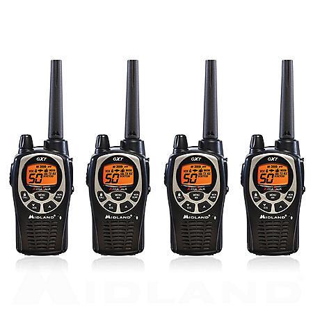 Midland 36-Mile Radios GXT1000X4VP4 (4 Pack)