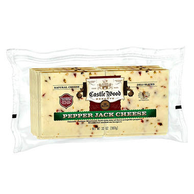 Castle Wood Pepper Jack Cheese Slices (42 slices, 32 oz.)