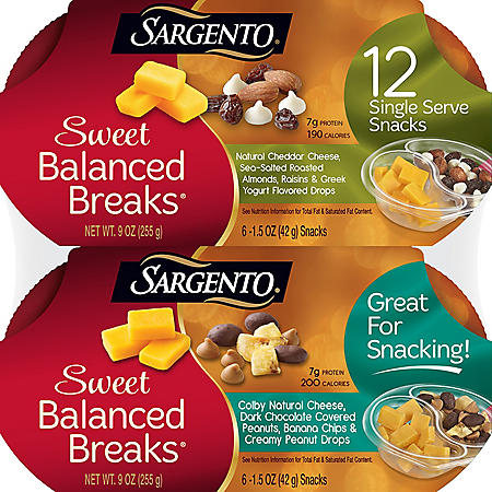 Sargento Sweet Balanced Breaks Snacks, Variety Pack (12 ct.)