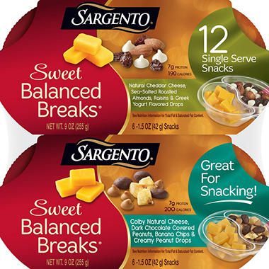 Sargento Sweet Balanced Breaks Snacks (12 ct.)