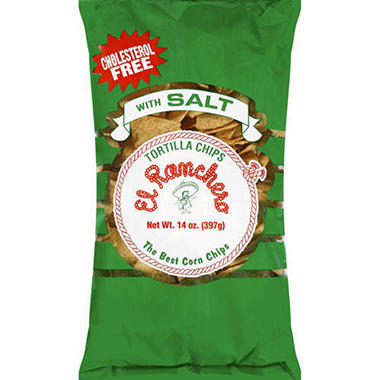 El Ranchero Tortilla Chips w/Salt - 14oz