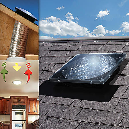 U.S. Sunlight Spectrum Skylight Tube by Air Vent, Inc. with included Electric Light Kit and Passive Ventilation Kit