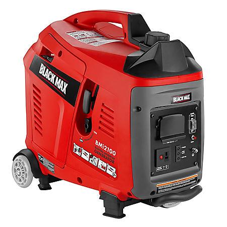 Black Max 1,700W / 2,100W Gas Powered Digital Inverter Generator