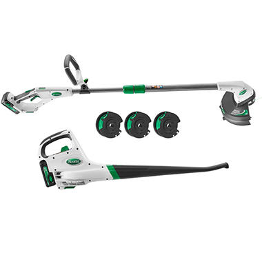 Scotts SYNC 20-Volt Lithium-ion Cordless String Trimmer & Edger/Blower Combo