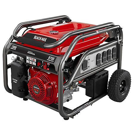 Black Max 7,000 / 8,750 Watt Electric Start Gas Generator (Powered by Honda)