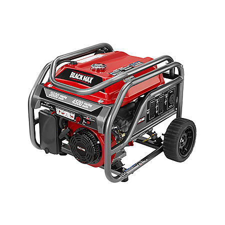Black Max 3,600 / 4,500 Watt Portable Gas Generator