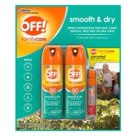 OFF! Smooth & Dry, 6 oz. 2 Pack + 0.5 oz. Mini