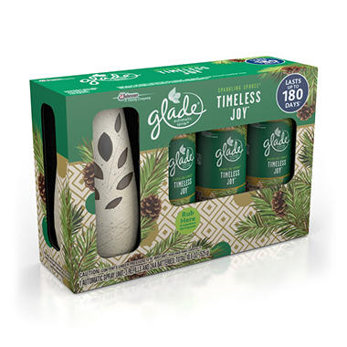 Glade Automatic Spray Starter + 3 Refills (Choose Your Scent)