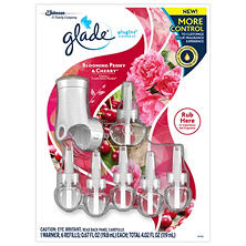 Glade PlugIns Scented Oil Refills + Bonus Warmer (Various Scents)