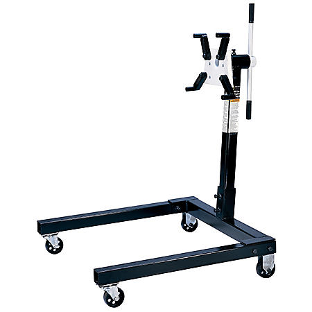Omega Worm Gear Engine Stand - 1,250 lb. Capacity (Black)