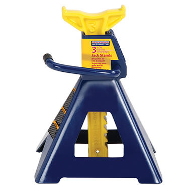 Hein-Werner Jack Stand - 3 Ton Capacity (Blue/Yellow)