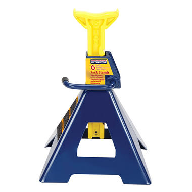 Hein-Werner Jack Stands (2-pack) - 6 Ton Capacity (Blue/Yellow)