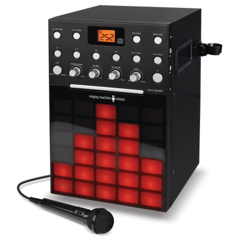 Singing Machine CD+G Karaoke player with Built-In Lightshow