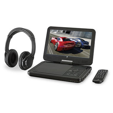 GPX Portable DVD Player with Bluetooth Headphones