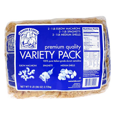 Bakers & Chefs Pasta Variety Pack - 6 / 1 lb. pks.