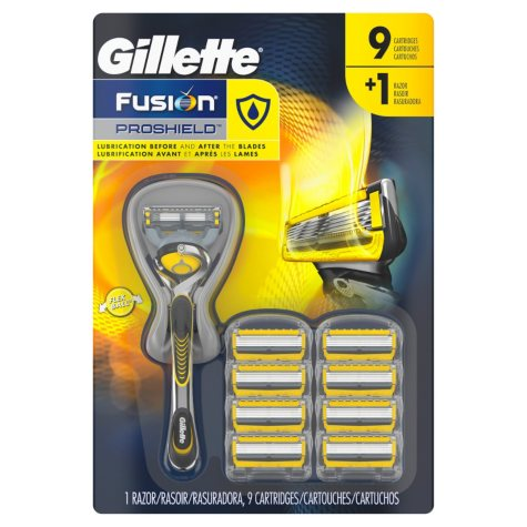 Gillette Fusion ProShield Razor + 9 ct. Cartridges