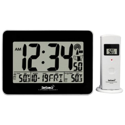 Skyscan Atomic Digital Clock with Indoor and Outdoor Temperature