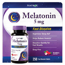 Natrol Melatonin 5mg Fast Dissolve (250 ct.)