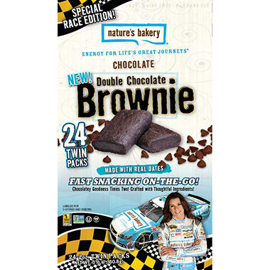 Nature's Bakery Double Chocolate Brownies (24 ct.)