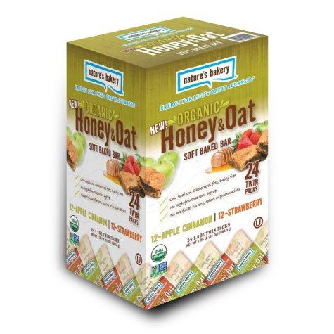 Organic Honey & Oat Soft-Baked Bars, Apple Cinnamon and Strawberry (24 ct.)